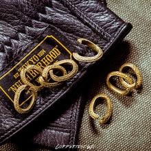 Meteorite pattern copper ring Handmade Brass Metal Key Holder Split Rings Ring Chain Round Circle Keychain