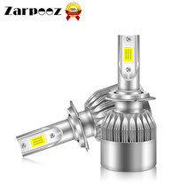 Zarpooz Headlight Bulbs 12V 72W H4 Led H7 LED H1 H3 H11 H13 9005 9006 9004 9007 Auto Lamps 2x LED Bulb(China)