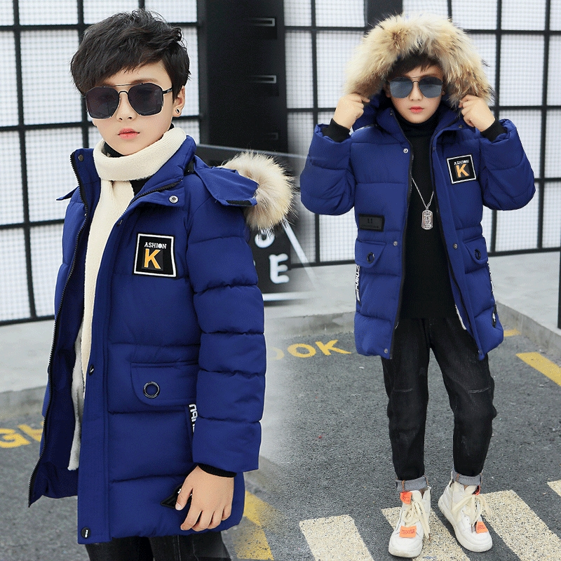 Kid Winter Jacket A Boy Park 12 Children's Clothing 13 Boys 14 Winter Clothing 15 Jacket 16 Thick Cotton Thickening -30 Degrees