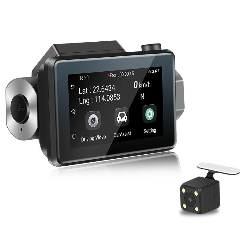K9 3.0 écran Android 5.0 voiture Dvr caméra Dash Cam 1080 P Full Hd Gps enregistreur vidéo 3G Wifi double lentille Wdr Dashcam