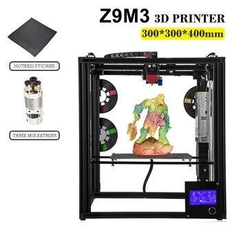 ZONESTAR Полный металлический большого размера алюминиевый 3d принтер Impressora DIY Набор Dule экструдер смешанный цвет авто уровень лазерная гравиров...