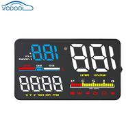 5 Inch Color Screen Car HUD Head Up Display OBD2 OBDII Windshield Overspeed Warning System Electronic Voltage Alarm Projector