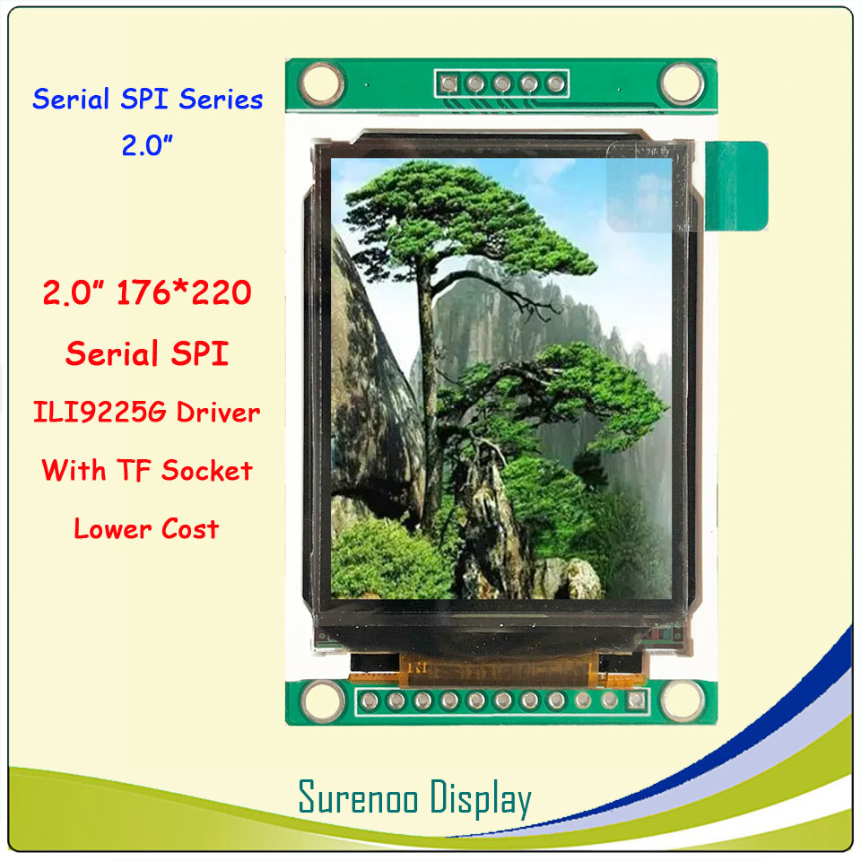 2.0 Inch 176*220 Serial SPI TFT LCD Module Display Screen Driver IC ILI9225G Without Touch Panel For Arduino