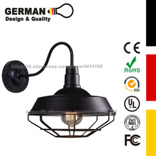 цена на GERMAN Design and Quality Industrial Retro style Cage Large Wall Sconce Wall Lamp Loft Metal for Restaurant Bar Warehouse Black