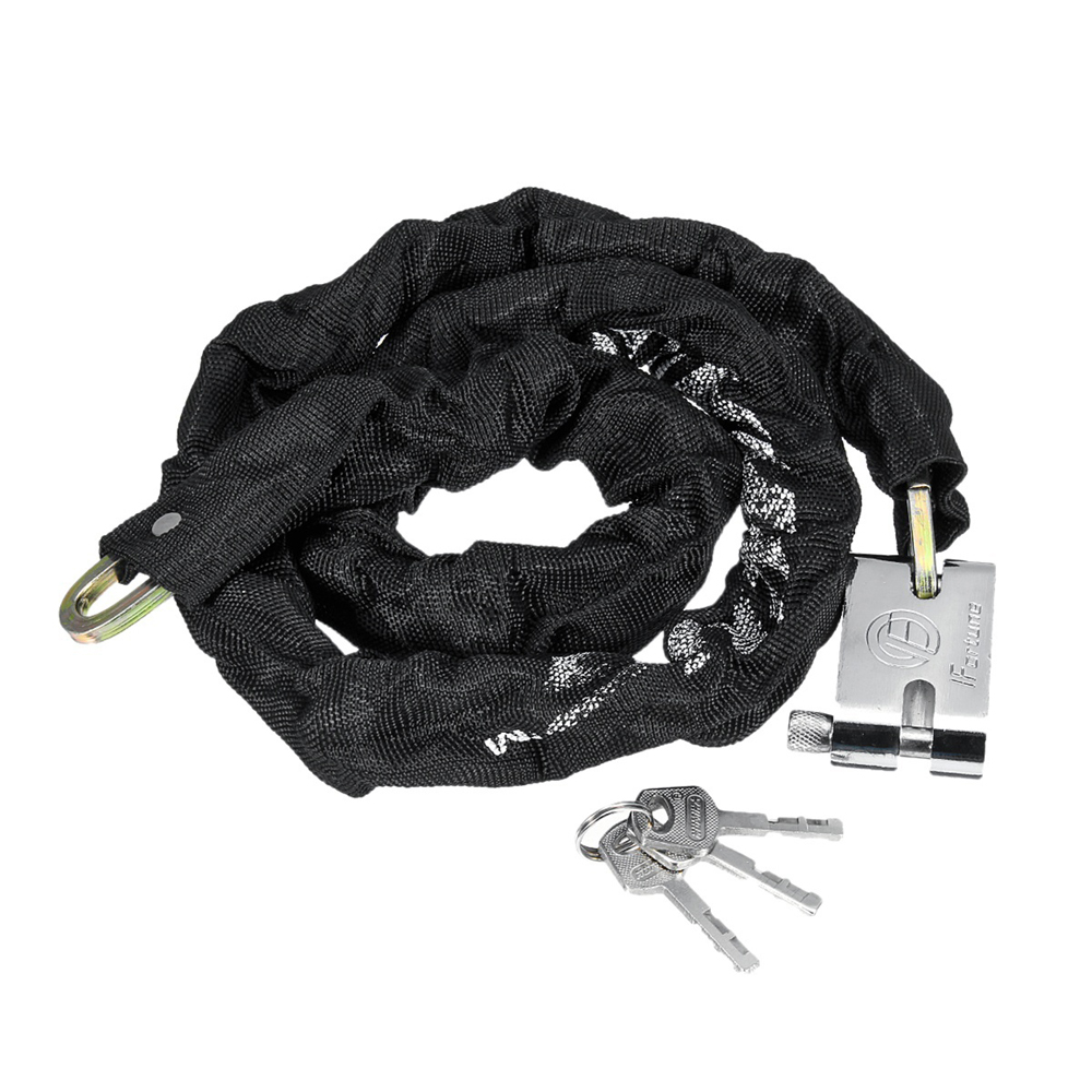 "47/"" Motorcycle Scooter Bike Heavty Duty Chain Lock Padlock Anti-theft Lock US"