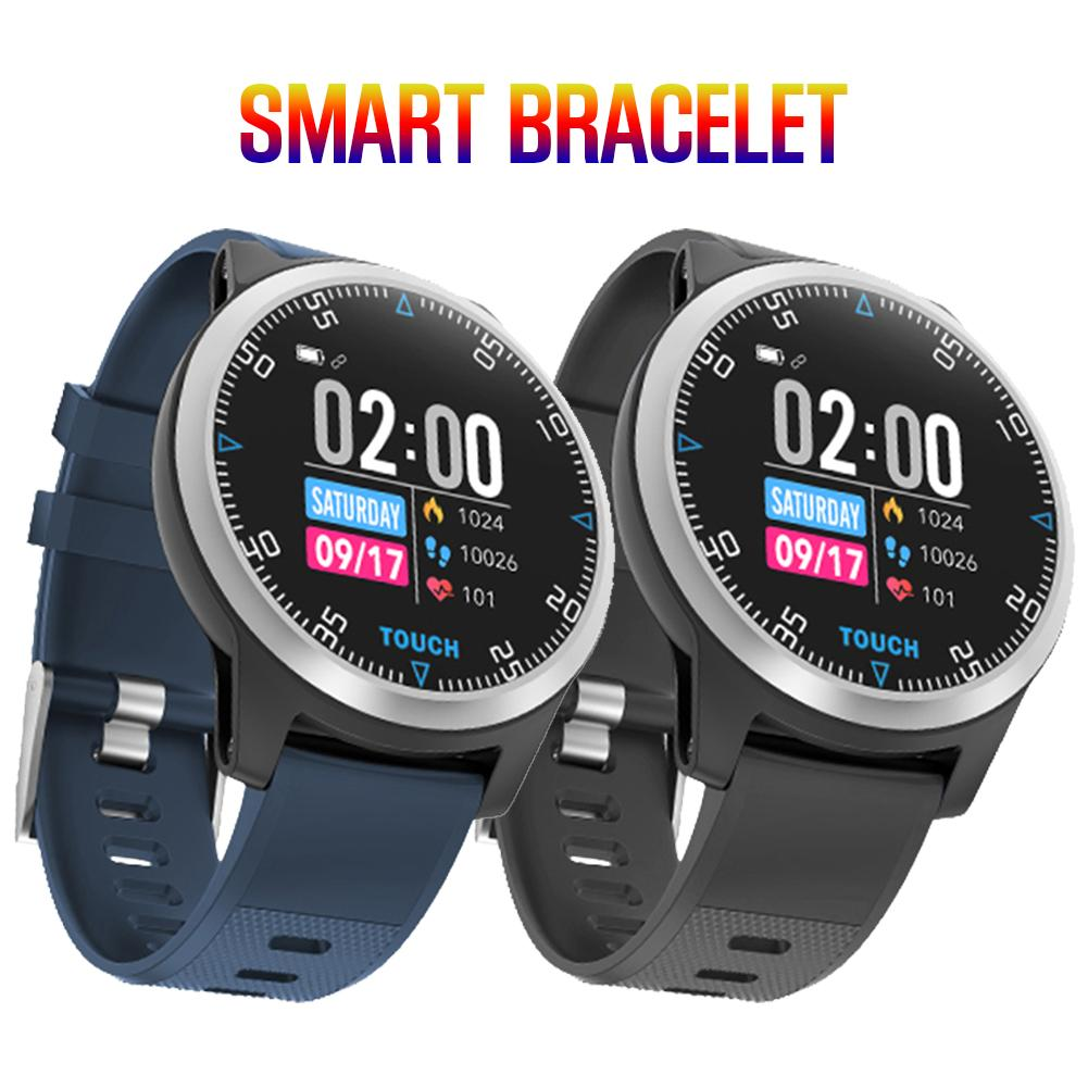E101 Sports Smart Watch Bluetooth 4.2 IP67 Waterproof ECG Heart Rate Blood Pressure Fitness Tracker Men's Smart Bracelet For And