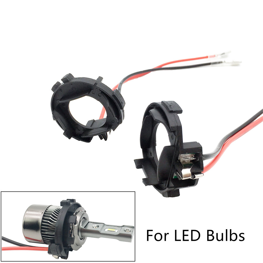 Hid Light Bulbs >> Us 7 99 20 Off For Golf 7 H7 Hid Led Light Bulbs Holder Adaptor Base Adapters For Volkswagen Vw Scirocco Sharan Touran Mitway Deterrence In Base