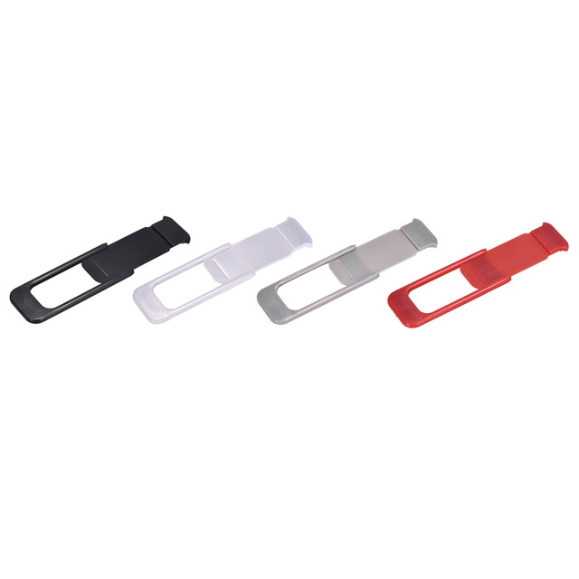Cubierta de la cámara web 3 piezas obturador ultrafino Universal deslizador plástico cubierta de la Cámara pegatina de privacidad para teléfono portátil iPad mac Tablet