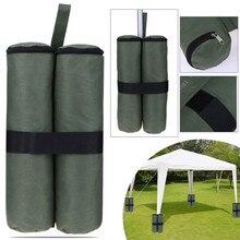 4Pcs חופה חול מקלט אוהל משקל תיק עמיד ביתן אוהל רגל משוקלל שקי חול צצים חופה אוהל רגל שקי חול