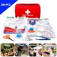 184pcs/pack Safe Travel First Aid Kit Camping Hiking Medical Emergency Kit Treatment Pack Set Outdoor Wilderness Survival