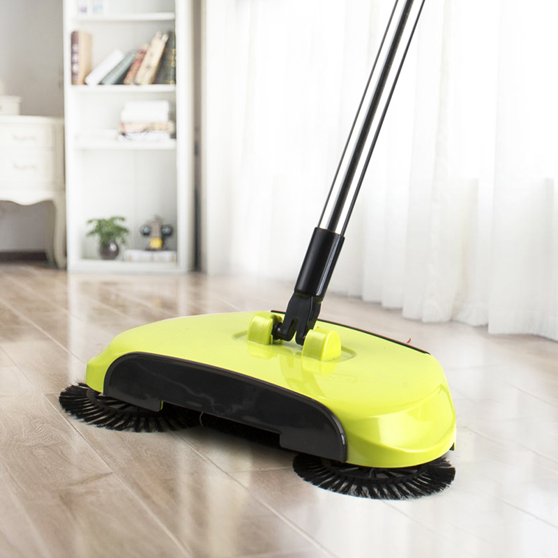 Push Broom Dustpan 360 Degree Rotating