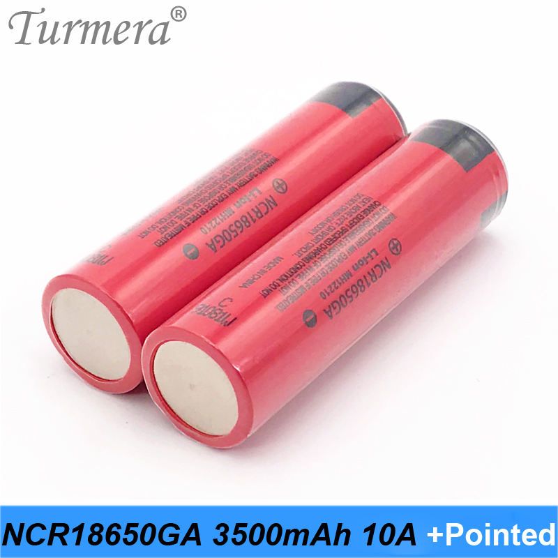 bike battery 18650 ncr18650ga 3500mah 10A flashlight 18650 battery bike with pointed for Turmera jun7