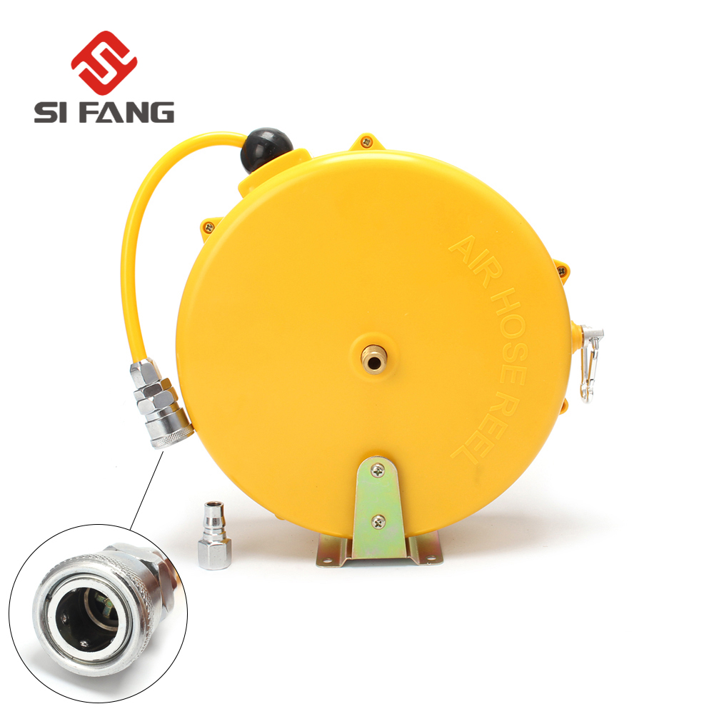 Mini Retractable Reel Car Washer Automatically Air Retractable Hose 5x8mm 8M Automotive Air Hose Reel Tube Round Car Wahing ToolMini Retractable Reel Car Washer Automatically Air Retractable Hose 5x8mm 8M Automotive Air Hose Reel Tube Round Car Wahing Tool