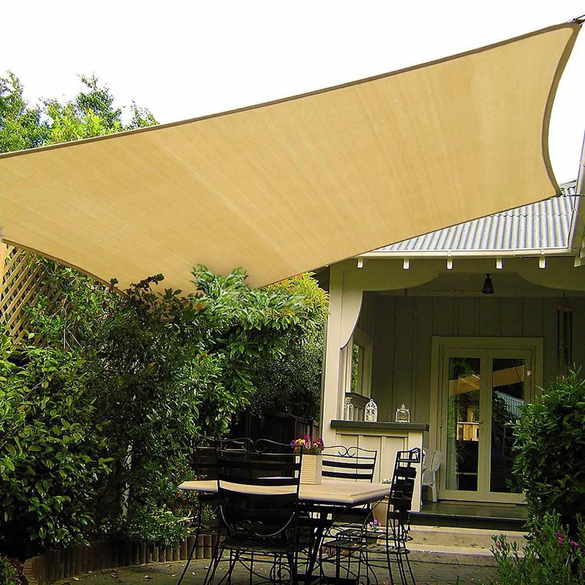 3x4 mètres/3x3 mètres HDPE soleil ombre voile tissu soleil abri parasol Protection extérieur auvent jardin Patio ombre voile auvent