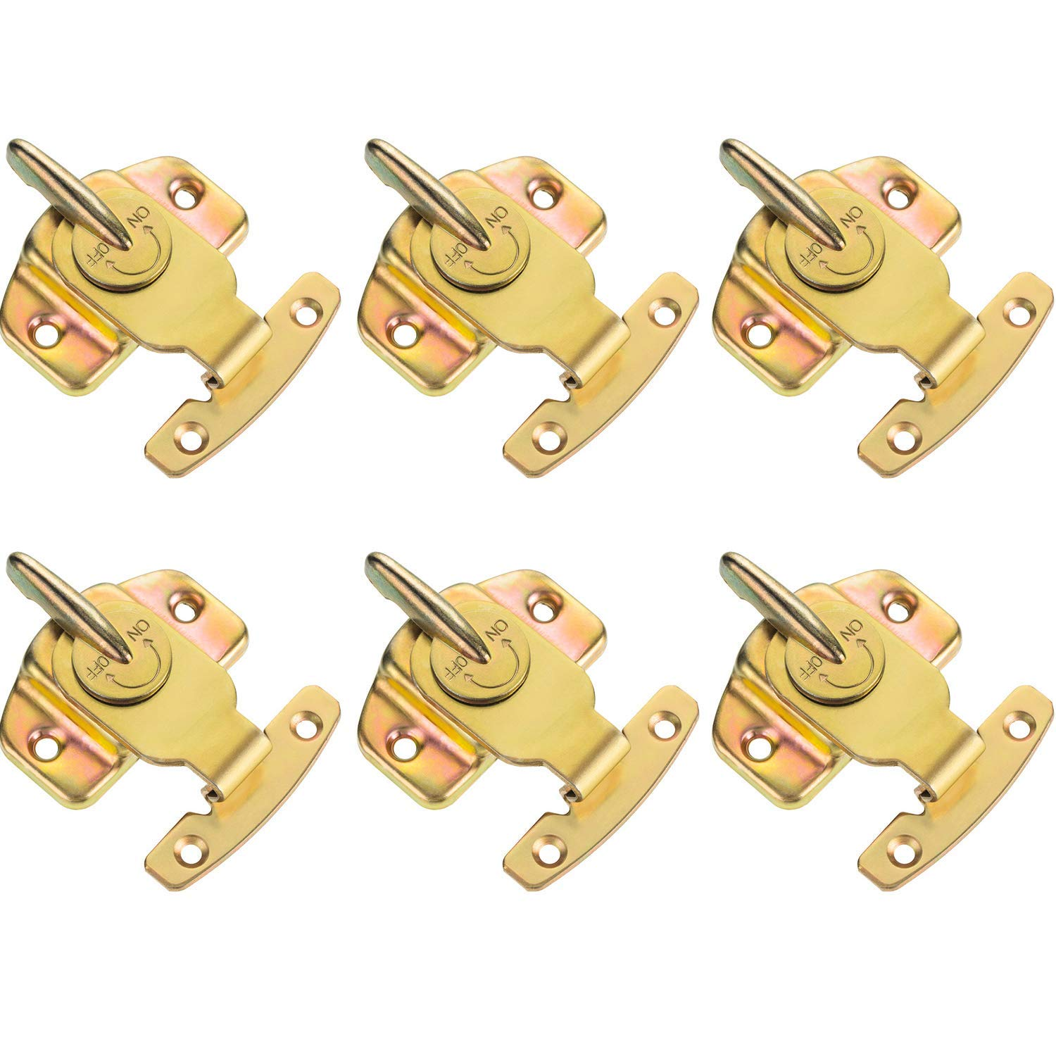 6 Pack Metal Plated Table Locks Dining Training Table Buckles Connectors Hardware Accessories