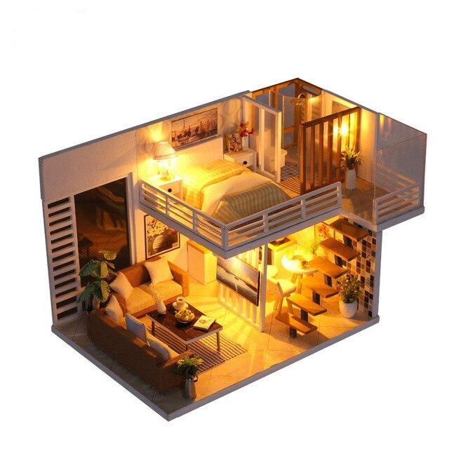 Dreamlike DIY Hut Elegant Manual Originality Make Mini- Cottage House Model Assembling Decoration Gifts