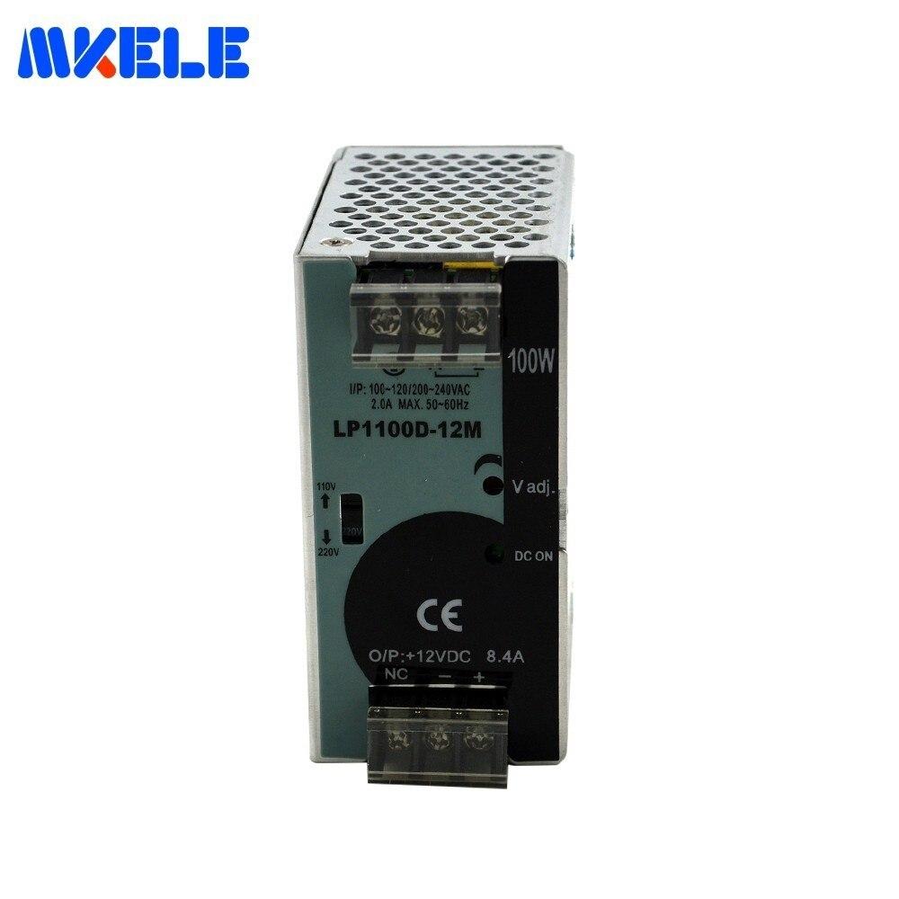 Makerele Din-rail alimentation à découpage 12VDC 100 W 8.3A LP-100-12 AC-DC 12 volts alimentation pour pilote Led livraison gratuite