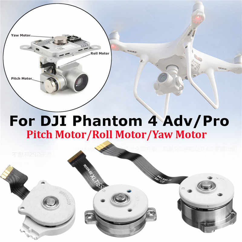 Professional Silver CNC Gimbal Roll Motor Replacement Drone Repair Parts For DJI Phantom 4 Adv/Pro Drone Accessories 2019 New