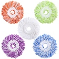 Микрофибра хлопок спин швабры головки Замена-5 упаковок заправки совместимые 360 спиннинг магия швабры-круглая форма стандартный размер M