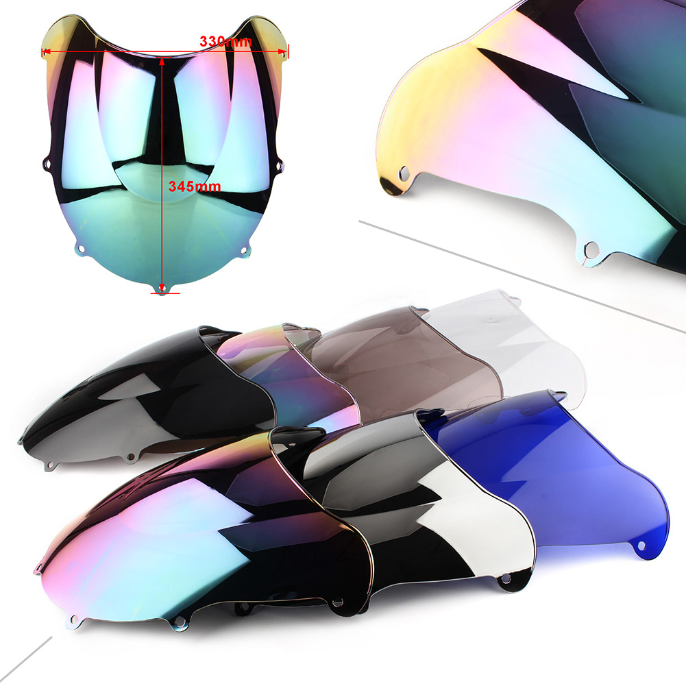 GSXR600 Windshield Windscreen For <font><b>Suzuki</b></font> Katana GSX-R GSXR 600 750 1996 1997 1998 <font><b>1999</b></font> Double Bubble ABS Plastic image