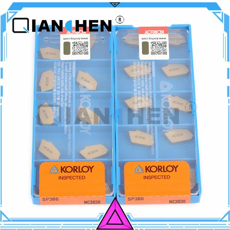 Original Korea Korloy SP300 NC3030 (10pcs/lot) High Quality Internal turning tool Insert
