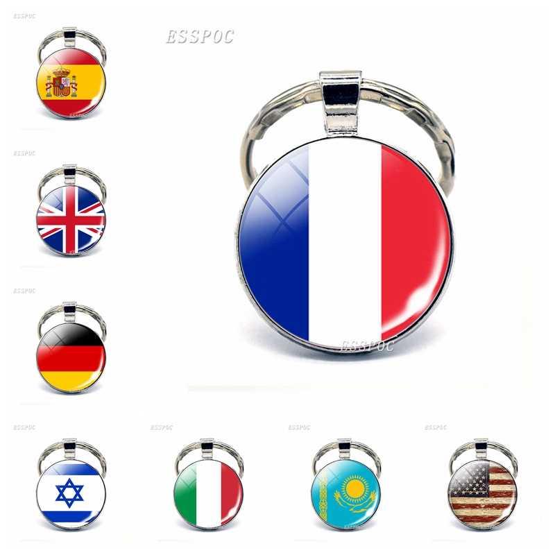 car key holder, Flag theme paracord key fob key chain car key ring