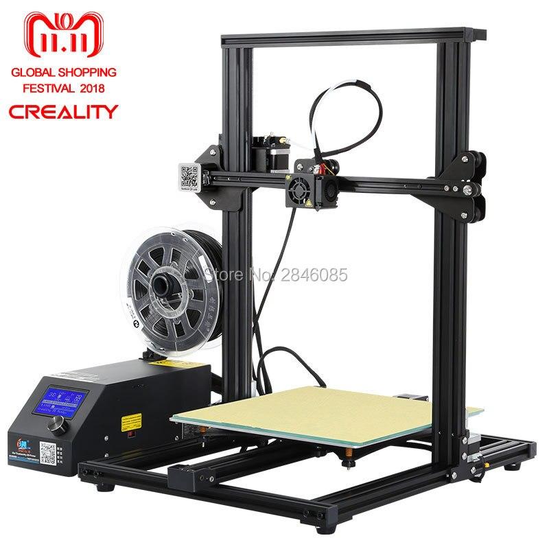 Hot 3D Stampante Creality 3D CR-10S, dua Z Asta Filamento Sensore/Rilevare Riprendere Potere Off 3D Stampante Kit FAI DA TE