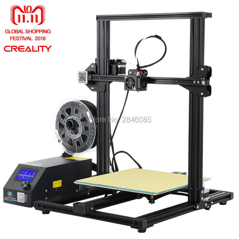Caliente 3D impresora Creality 3D CR-10S... dua Z barra Sensor de filamento/detectar reanudar energía 3D DIY Kit de impresora