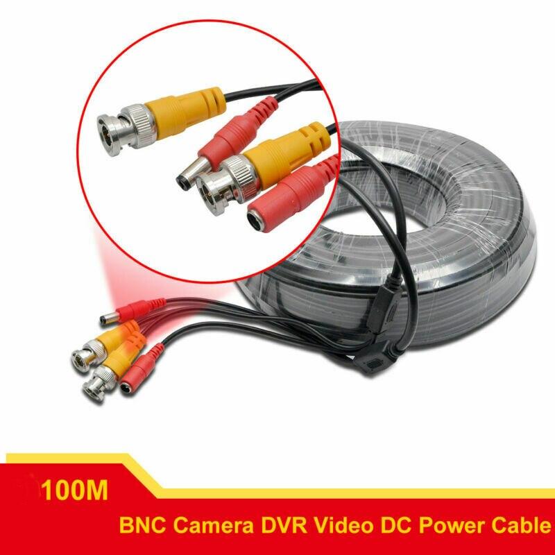 BNC DC CCTV sécurité vidéo caméra DVR données câble d'extension 100 m