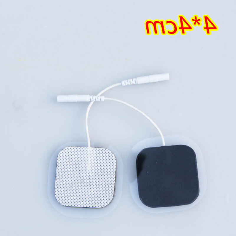 50pcs/lot(25 pair) 4*4cm Tens Electrode Pads Pin Type Physical Therapy Massager Electric Digital Machine Massager physiotherapy