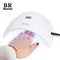 24W UV LED Lamp for Nails Gel Dryer EU Plug SUN9s 365+405nm Double Light for Gel Nail Polish Drying Nail Art Salon Manicure Tool