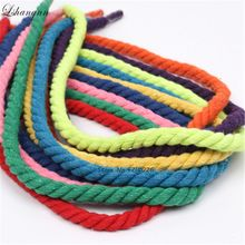 Lshangnn 100% Cotton 3 Shares Twisted Cords 12mm DIY Craft Decoration Rope Cord for Bag Drawstring Belt 15 Colors