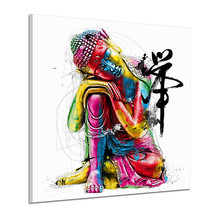 2019 Colorful Buddha Statues Ink Paintings By Decoration For Home Nordic Wall Painting Prints Pictures