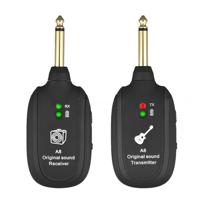 Guitare UHF système sans fil émetteur récepteur intégré Rechargeable