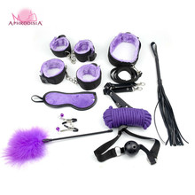 APHRODISIA 10 Pieces Sex Games Accessories Bondage RestraintsHandCuff Straps Erotic Sex Products Bandage Sex Toys For Adult