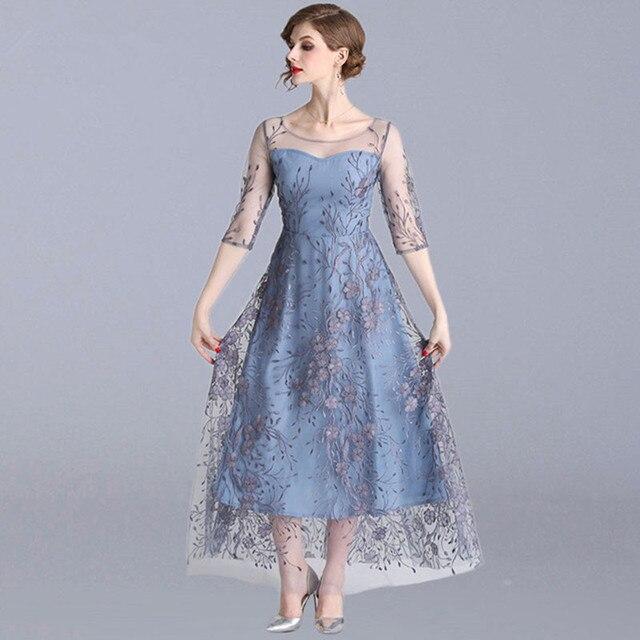 7a9b26a82f Venta Comelsexy de verano 2019 moda lujo bordado Floral elegante ...