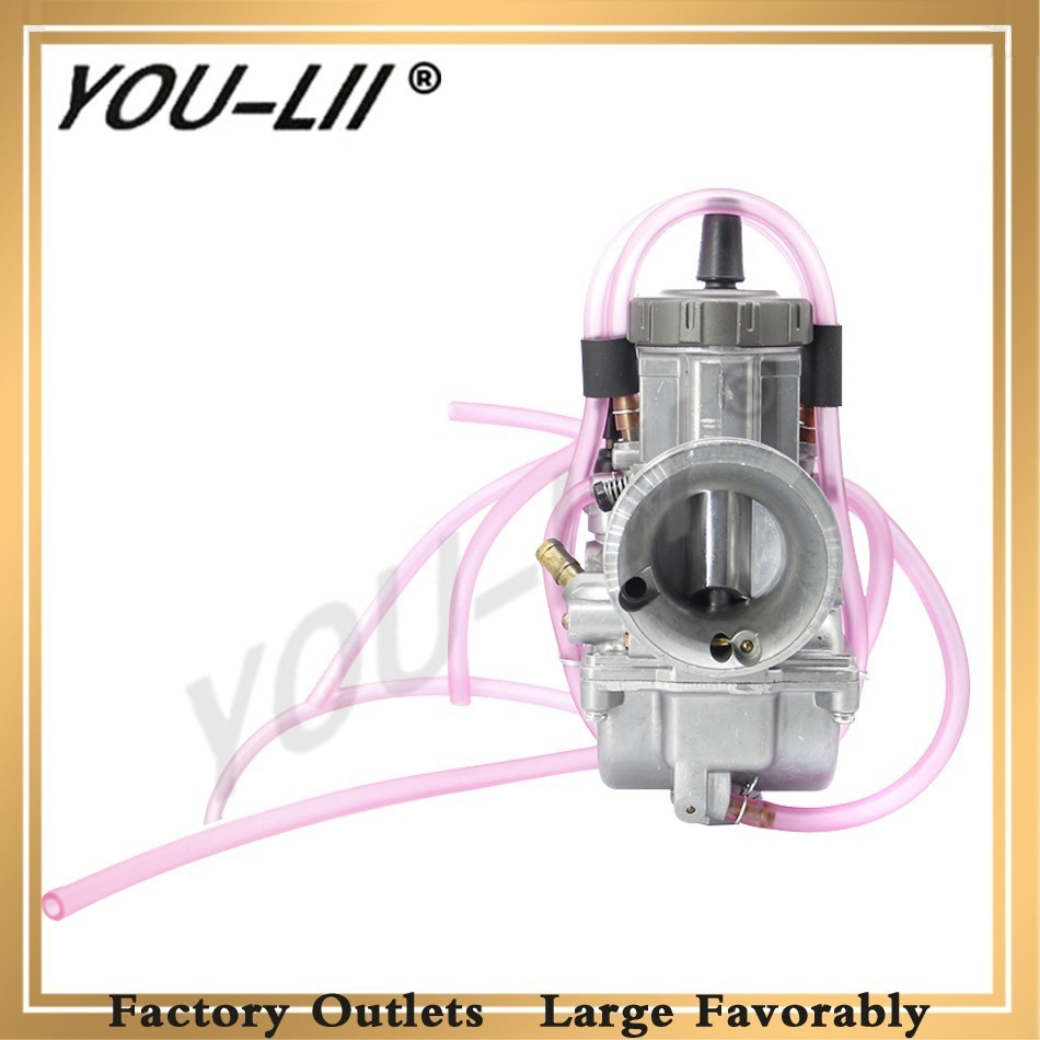 YOULII Motorcycle For KEIHIN PWK Carburetor 33 34 35 36 38 40 42mm Racing Parts Scooters Dirt Bike ATV With Power Jet Used 250cc