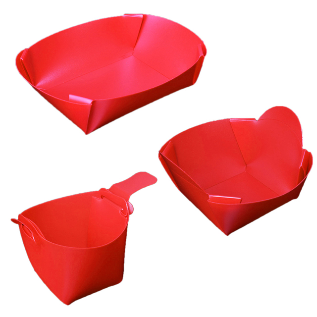 Outdoor Foldable Camping Tableware Set Bowl Plate Cup Travel Kit Chopping Board Red Eco-friendly BBQ Tablewares Travel Accessory