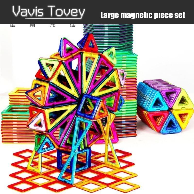 Vavis Tovey 30 200pcs Color Designer Construction Set Model & Building Toy Plastic Magnetic Blocks Educational Toys Kids