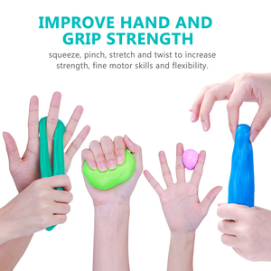 Image 3 - ROSENICE 4pcs Silicone Toy Colorful Stretchy Non Toxic Elastic Therapy Putty For Recovery Exercise Playing Stress Relief