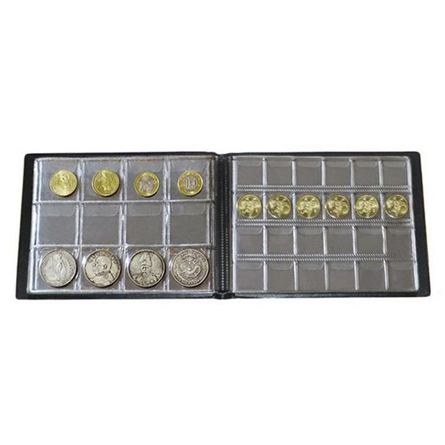 180 מטבע אלבום PVC מטבעות אוסף ספר מטבע אספנים איסוף מטבע כסף אחסון מקרי מחזיק בית תפאורה מלאכת מתנה