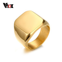 Vnox 18mm Men's Stainless Steel Big Rings Silver Black Gold-color Rock Punk Biker Bague Club Party Jewelry Anillos(China)