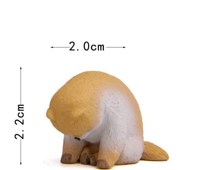 1 Pc Cute Sleeping Zoo Animal Action Figures Cartoon Cat Dog Panda Monkey Koala Otter Model Figure Toys Doll-3