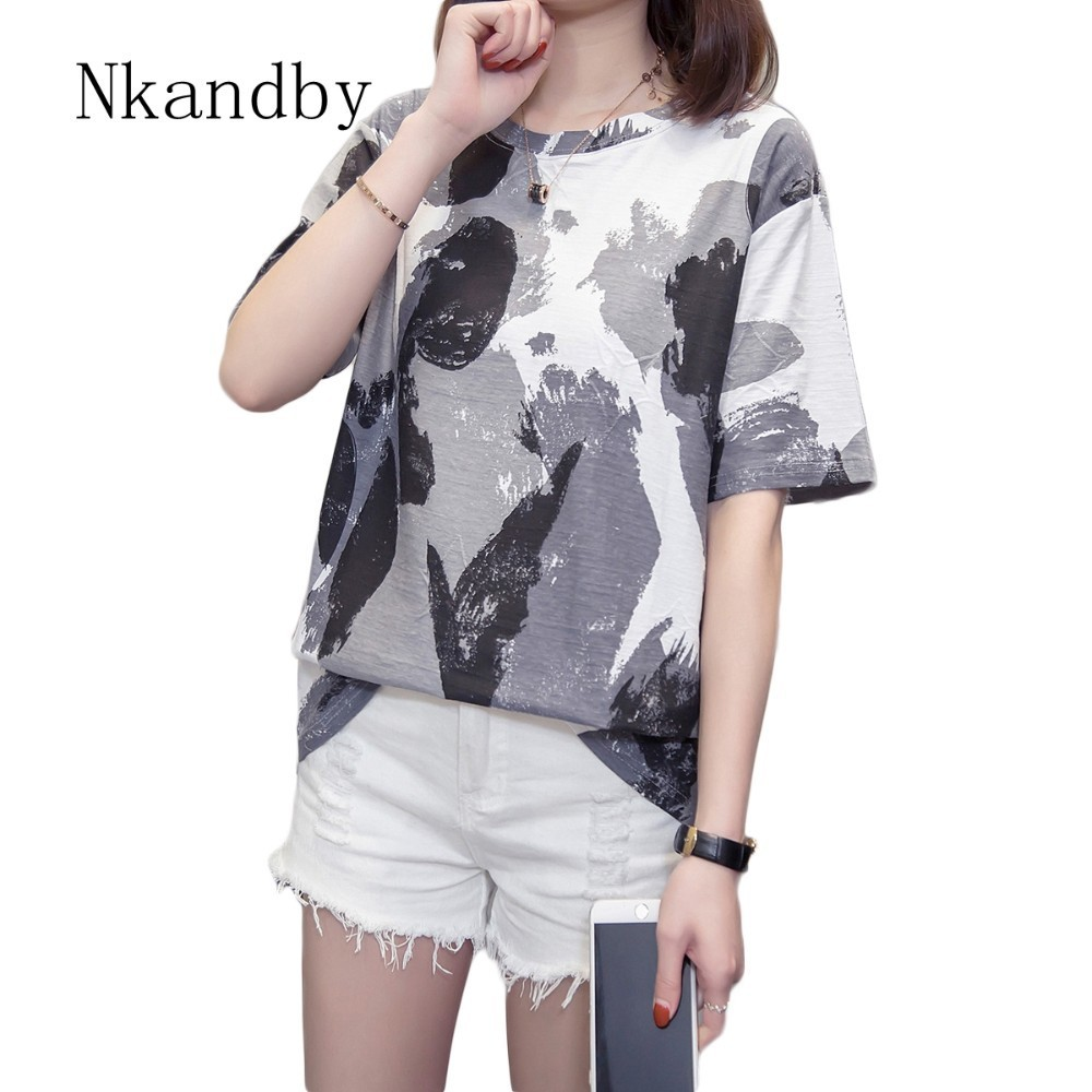 Bamboo Cotton Women Tops And T Shirts Plus Size Summer Clothes Graphic Aesthetic Ladies Tshirts Vegan Short Sleeve T-shirt Femme