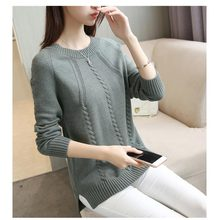 2019 Autumn Women Sweater Outerwear New Style Fashion O-neck Pullover Winter Casual Solid Female