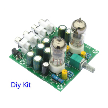 Tube Amplifiers Audio board Amplifier Pre-Amp Audio Mixer 6J1 Valve Preamp Bile Buffer Diy Kits 6J1 tube preamplifier Diy kits 1pc tube amplifier audio boards high quality 2 0 channel pre amp audio mixer 6j1 valve bile buffer amplifier audio board diy kit