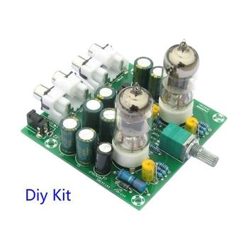 Tube Amplifiers Audio board Amplifier Pre-Amp Audio Mixer 6J1 Valve Preamp Bile Buffer Diy Kits 6J1 tube preamplifier Diy kits aiyima tube amplifier preamp hifi 6j1 tube preamplifier board with ne5532 tone 12v power supply