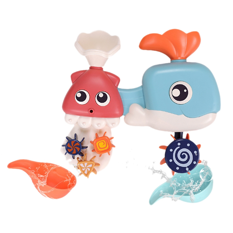 FBIL-Children'S Bath Water Whale Turn Toy Shower Shower Baby Children Play Water Toys