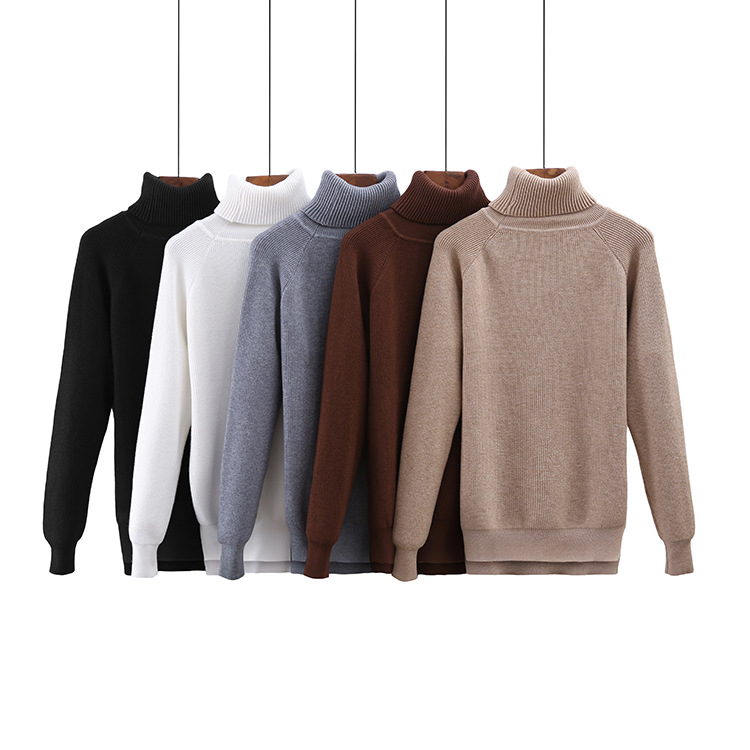 2019 Autumn and winter new women thick warm cashmere sweater, female casual brand designer high neck wool knitting pullovers