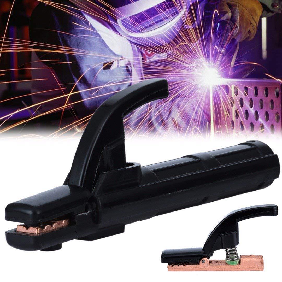 Soporte de electrodos de soldadura 300 A//500 A//800 A resistente a los golpes con pinza de electrodo resistente